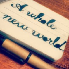 A whole new world; #Handlettering~ #maestyle #typography
