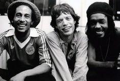 Bob Marley, Mick Jagger & Peter Tosh, con esos ojitos