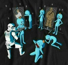 Rick and Morty meets Star Wars Justin Roiland, Rick And Morty, Ricky Y Morty, Mister Meeseeks, Storm Troopers, Funny Art, Funny Pictures, Geek Stuff, Stars