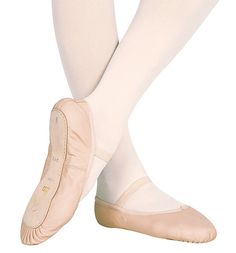 Full sole, leather ballet slippers are the best you could get for their durability.
