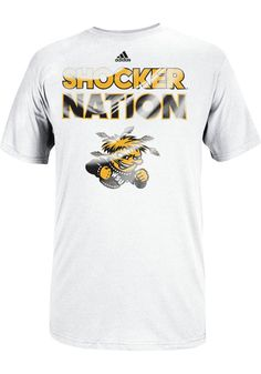 Wichita State (WSU) Shockers Nation White Adidas Shirt http://www.rallyhouse.com/shop/wichita-state-shockers-adidas-14851962 $24.99