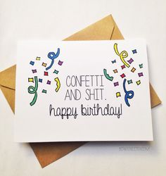 Funny Happy Birthday Card / Snarky Birthday Card / by BEpaperie