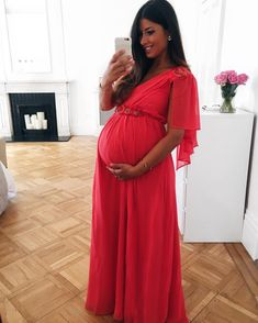 Mimi Ikonn Maternity Style, Mimi Ikonn Pregnant, Evening Dress, Glam, 39 Weeks.