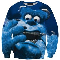 New 0404 Spring Christmas Monsters University Sullivan Blue Prints Walking Girl Sweatshirt Suit Outside Workout Women Hoodies
