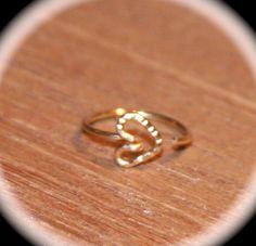 Small Nose Ring, Heart Nose Ring, 14k Nose Hoop, Hoop Earring, Cartilage Hoop, Tragus, Endless Hoop, Seamless Hoop, Piercing Jewelry, Hoop by BirchBarkDesign on Etsy