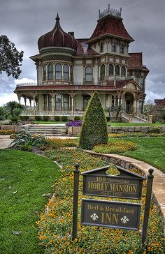 Morey Mansion, built in 1890, in Redlands, California. Currently for sale if you would like to buy it. Known as one of America's Favorite Victorian's! This place is a treasure to photograph!