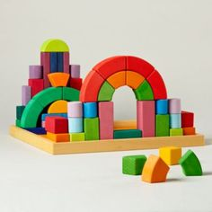 Land Of Nod Big Box of Colorful Blocks.  These never go out of style!