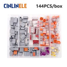 25.00$  Watch now - http://ali7m6.shopchina.info/go.php?t=32797596810 - 144pcs/box 4-room-set  fast WAGO Connector set Mixed Models Universal Compact Wire Wiring Connector Conductor Terminal Block  #buychinaproducts