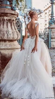 miriams bride 2018 bridal cap sleeves illusion bateau sweetheart neckline tulle skirt romantic ball gown a line wedding dress v back chapel train (1) bv -- Miriams Bride 2018 Wedding Dresses #wedding #bridal #weddings