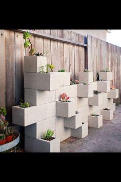 Cinder block garden ~ use cinder blocks for an herb garden in the back yard, perfection!~