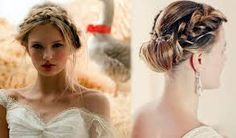 Image result for braided thick hair updos