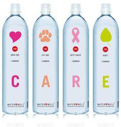 Botellas con buen diseño.