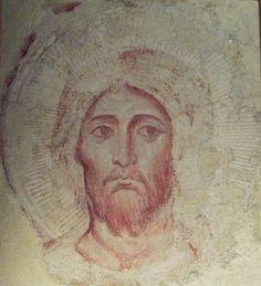 Jacopo Torriti, Rostro del Creador, Fresco de la Basílica superior de San Francisco de Asís. -Pintura Italiana SS.XIII-XIV. El Duecento en Roma.