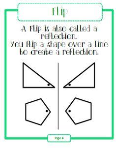 Flip, Slide, and Turn plane shapes #GeometryReflection