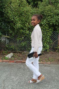 Fierce little fashionista.