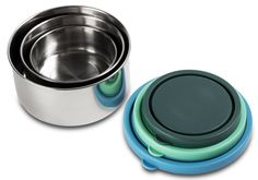 Amazon.com: MIRA Set of 3 Stainless Steel lunch box and food storage containers, Multi Color: Kitchen Storage And Organization Product Sets: Kitchen & Dining