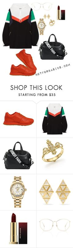 """""""On my daily☝️"""" by mimi-dube on Polyvore featuring Louis Vuitton, Koché, Givenchy, Temple St. Clair, Rolex, Melissa Kaye, Kevyn Aucoin and Christian Dior"""