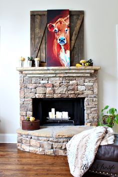 Fall Mantel #fall #mantel #decor
