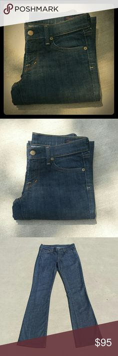 """Citizens of Humanity Bootcut Jeans Low Waist Bootcut; Kelly #001 Stretch   - Very gently used; In great condition   - Dark Wash   - Inseam: 33"""" Citizens of Humanity Jeans Boot Cut"""