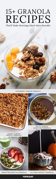 Store-bought granola is almost always overpriced, bland, and just not as good as the homemade stuff. Thankfully, it's extremely easy to make yourself and can be quite affordable, especially if you shop at a supermarket with bulk bins. Keep reading for recipes ranging from a nut-based (grain-free) matcha blend to a bright and zesty cranberry-orange version.