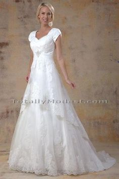 5d29f3e86a Organza and lace sweetheart neckline with 2-tierred A-line skirt with lace  trim