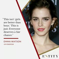 I think Emma Watson is the real life version of Hermione Granger. True Quotes, Motivational Quotes, Inspirational Quotes, Qoutes, Emma Watson Feminism, Emma Watson Quotes, Ema Watson, Girl Power Quotes, Feminism Quotes