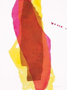 Stefanie Pietsch: Magenta und Gelb. Manueller Druck.  Französische Tusche auf Aquarellpapier (mit Seidenpapier gedruckt). #Unikat #Druckgrafik #Tusche #stefaniepietsch #startyourart www.startyourart.de