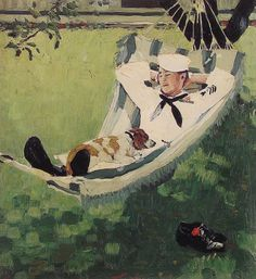 'Study for home on leave' by Norman Rockwell, 1945. Oil on canvas.