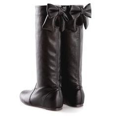 Smoothie - Bow-Accent Cutout Tall Boots