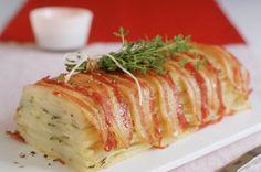 Bacon-wrapped potato cake - 50 ways with potatoes