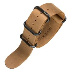 This ZULU style watch strap is beautifully soft as it is made from a vintage style genuine leather which makes it very comfortable to wear. It is made from a single strip of cowhide leather, and has been crafted together with study brown stitching. The leather thickness is a generous 1.8mm and has a beautiful tan brown colour.Attention to detail has also been applied to the buckle which been lovingly finished in a very durable PVD Black finish (see our FAQ's about this finish)The ZULU sty...