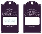 12 days of Christmas gift tags...cute idea : )