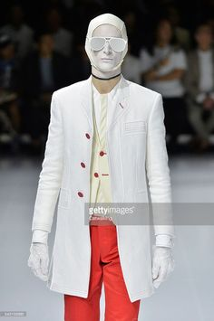 8aa78b96942 A model walks the runway at the Thom Browne Spring Summer 2017 fashion show  during Paris