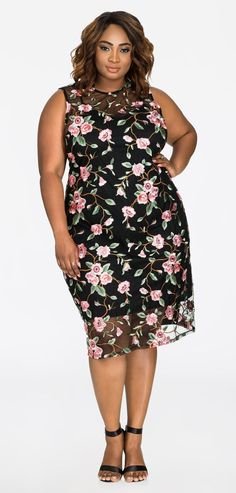 Black Plus Size Embroidery Women's Sheath Dress Popular Wedding Dresses, Dresses To Wear To A Wedding, Plus Size Boho Clothing, Plus Size Fashion, Sheath Dress, Dress Skirt, Boho Dress, Plus Size Dresses, Plus Size Outfits