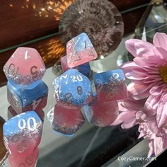 Non Binary Disco DnD Dice Set, Polyhedral dice, D&D dice, Dungeons and Dragons, Table Top Role Playing Dice. Cool Dnd Dice, Dragon Table, Playing Dice, Dragon Dies, Dungeons And Dragons Dice, Crochet Cozy, Cute Notes, Dado, Custom Bags