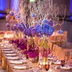 An amazing tablescape with brilliant colors that complement each other! It's the perfect fairy-tale wedding scenery by @engagingaffairs! [camera] by @jaypremack #engagingaffairs #photography #tablescapes #fairytale #dream #dreamwedding #lovestory #recepti