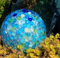 DIY Glass Garden Balls - DIY Gazing Ball Ideas for Your Garden by herland