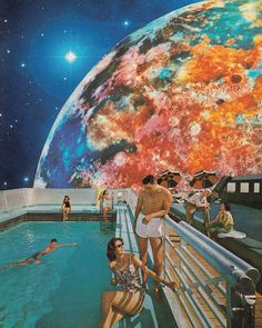 <p>Vintage collage art by Karen Lynch aka Leaf and Petal Design is a combination of the analogue and digital. The artist surreal landscapes derive from Kodachrome and Ektachrome color palettes, remini