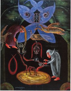 Leonora Carrington, The night of the 8th, 1987