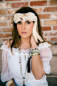 #summer2015 #lookbook #boho #feathers #leather #jewelry #handmade #tassel #amazonite #gypsy #johnnylovesjune  Amy Konieczka Photography