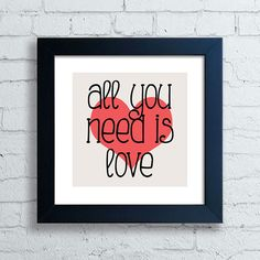 Quadro Beatles - All You Need Is Love