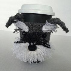 Schnauzer Mug Cozy Dog Mug Cozy Dog Cup Dog by HookedbyAngel