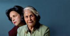 Dedé Mirabal junto a Minou Tavarez, hija de Minerva, una de las hermanas Mirabal, las Mariposas de República Dominicana y el mundo.