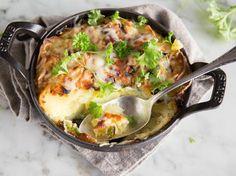 Kartoffelgratin ohne Sahne - außen knusprig, innen saftig!