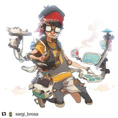 #wooolikes @sergi_brosa Fury Beats - Tien.T!!!!! You will find the video and psd file in the link in my bio! April 1st #sergibrosa #characterdesign #wooomic #comic #character #illustration #illustrationartists #regram #repost #likes #characterdevelopment