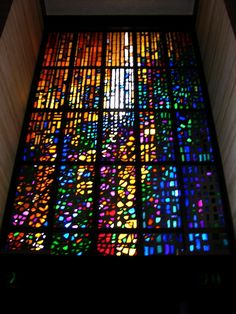 Stained glass - this technique is called dalle de verre.  Beautiful!