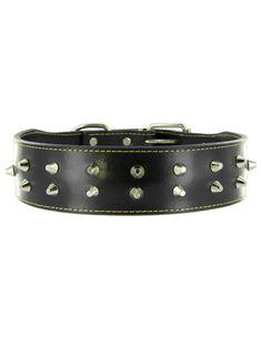 Boxer Leather Studded Dog Collar by Kakadu Pet * You will love this! More info here : Collars, Harnesses and Leashes