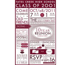 This Has Good Ideas Postpone Reunion Till Football Season Go For Homecoming And Have Dinner Dancing Afterwards