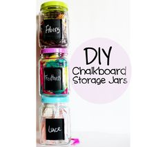 DIY Chalkboard Storage Jars - Julie Ann Art