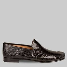 fa9d3c21a84 Exotic Moccasin Slip On Genuine Crocodile Injected Comfort Insole Full Flex  Leather with Rubber Island Insert Sole Handmade in Spain